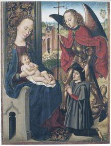 Maria met kind en de aartsengel Michael met stichter
