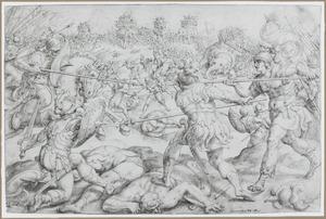 Het gevecht van de Makkabeeën tegen koning Antiochus en de dood van Eleazar