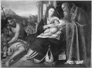 De Madonna en kind met Johannes de Doper en de H. Simeon Christophorus