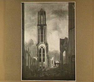 De Dom te Utrecht, na de storm van 1 augustus 1674