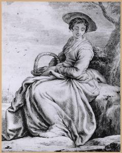 Boerenvrouw met mand (zogenaamd portret van Esther van Bijnkershoek)