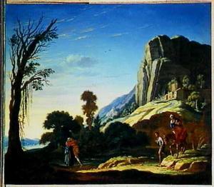 De ontmoeting van Mozes en Aaron bij de berg Horeb (Exodus 4:20-28)