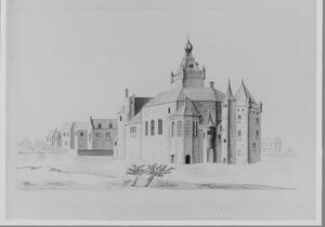 Rechter- en achterzijde van het kasteel van Montfoort