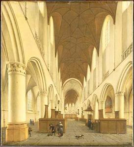 Het interieur van de Sint Bavo te Haarlem
