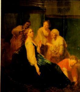 Artemisia maakt zich op om de as van haar man, koning Mausolus, te drinken