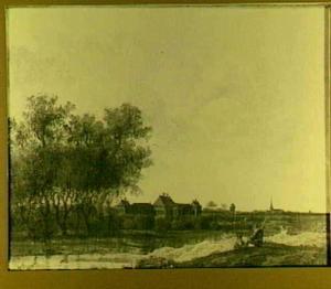 Gezicht op Huis ter Nieuburch te Rijswijk