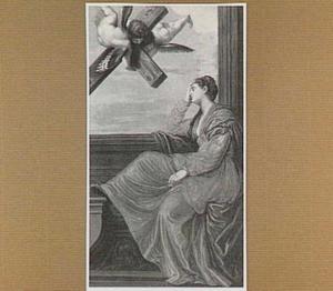 Heilige Helena dromend van het Ware Kruis