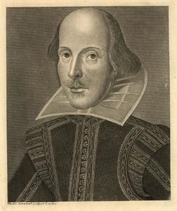 Portret van William Shakespeare (1564-1616)