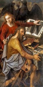 De evangelisten Johannes en Marcus