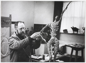 Ek van Zanten in zijn atelier