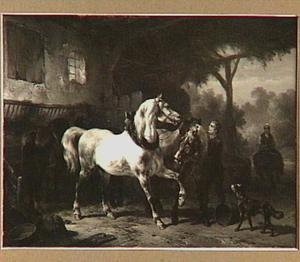 Paarden in een stal