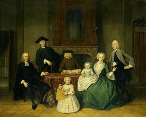 Portret van Harmen Brak (?-1768) en zijn family