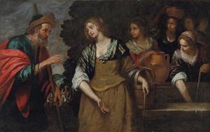 Rebecca en Eliezer bij de put