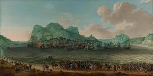 Overwinning op de Spanjaarden bij Gibraltar door een vloot onder bevel van admiraal Jacob van Heemskerck, 25 april 1607