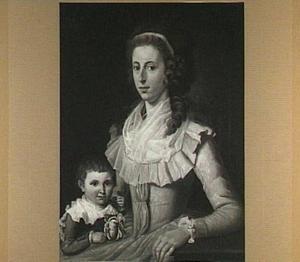 Portret van W.A.C. baronesse van Omphal