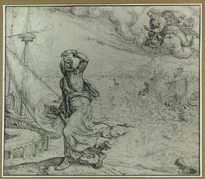 Jona vlucht weg voor het aangezicht van de Heer om naar Tarsis te gaan; Jona wordt door zeelieden in zee geworpen (Jona 1: 1-15)