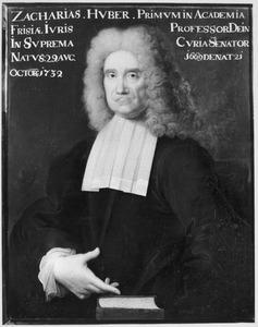 Portret van Zacharias Huber (1669-1732)
