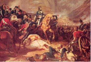 De slag bij Rivoli op 14 januari 1797