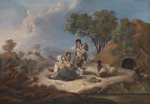 Landschap met Portugese herdersfamilie
