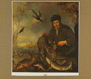 Een visser met zijn vangst
