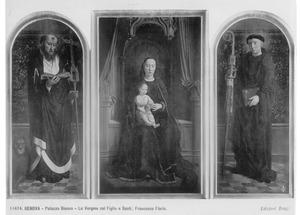 De H. Hieronymus (links), Maria met kind (midden), de H. Benedictus (rechts) (het Cervara-Altaar)