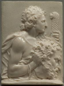 David met het hoofd van Goliath