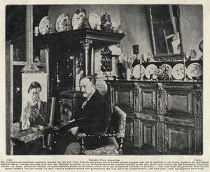Benjamin Prins in zijn atelier te Amsterdam