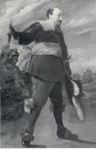 Portret van een lid van de Antwerpse schutterij De Oude Voetboog
