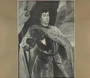 Karel de Stoute van Bourgondië in wapenuitrusting