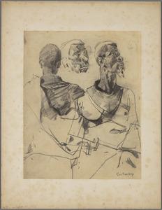Schets voor 'Deurwachter' (model Adolf Boutar)