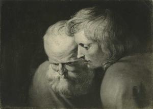 Studie van twee apostelkoppen