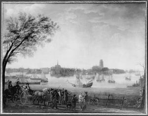 Bezoek van prins Willem III van Oranje-Nassau aan Dordrecht in 1672 (?)