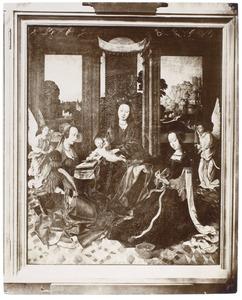 Madonna met heiligen en engelen