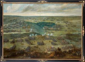 Weids panoramalandschap met de Slag bij Nördlingen (6 september 1634)