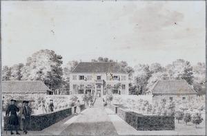 Gezicht op de achterzijde van het huis Treslong te Hillegom