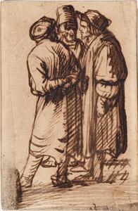 Drie staande Oosterlingen in gesprek