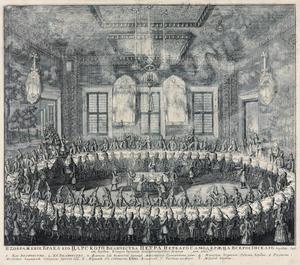Bruiloft van Peter I en Catharina I op 19 februari 1712