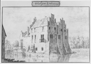 Voor- en rechterzijde van de havezathe Waliën bij Winterswijk