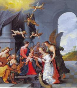 Paleisinterieur het mystieke huwelijk van de H. Catharina van Siena