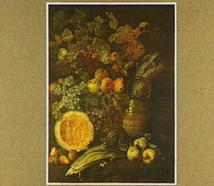 Stilleven van vruchten en selderij