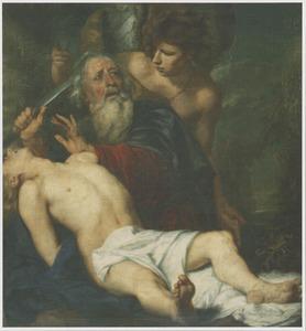 De engel verhindert Abraham om Isaak te slachten (Genesi 22:11-12)
