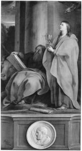 De HH. Johannes en Lucas met Mattheus (in medaillon)