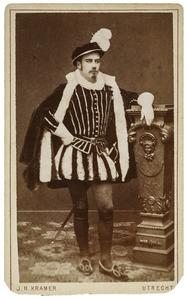 Portret van Carel Joseph van der Muelen (1859-1885) als François Clockman, trésorier