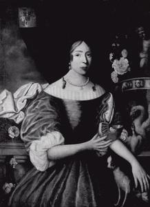 Portret van Jeltje van Harinxma thoe Slooten (1649-1677)