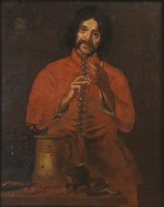 Portret van Hindrik Hasenberger, hofnar van Carl Gustaf Wrangel (1613-1676)