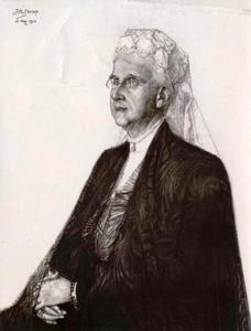 Portret van koningin Emma (1858-1934)