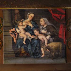 De H. Familie met Johannes de doper als kind en zijn moeder Elisabeth