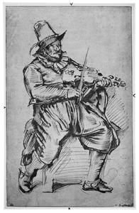 Zittende vioolspeler