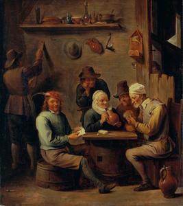 Kaartspelers in een herberg