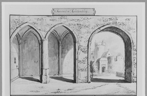 Voorzijde van kasteel Culemborg, gezien vanuit het poortgebouw